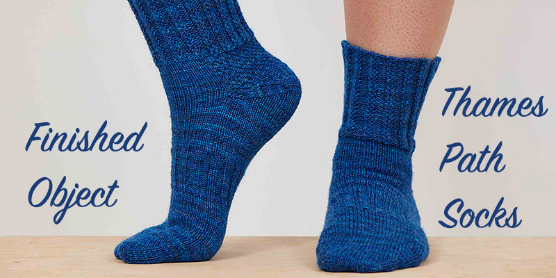 Finished Object Friday: Thames Path Socks
