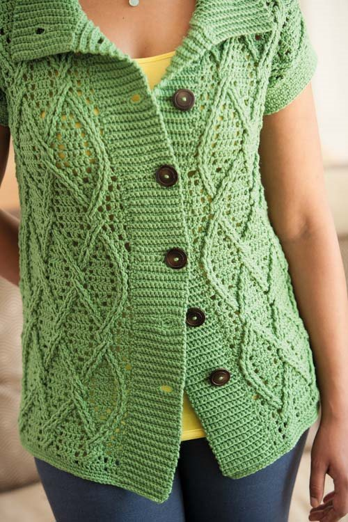 Blueprint Crochet Sweaters: Cabled Crocheted Coat