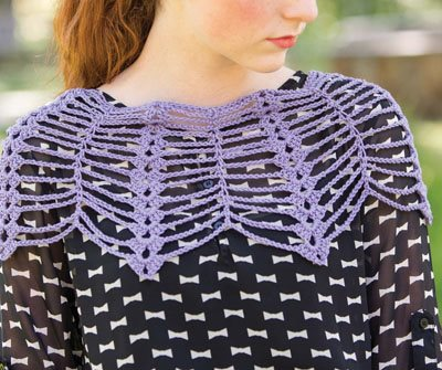 Colorful Crochet Lace: Lace Crochet Capelet
