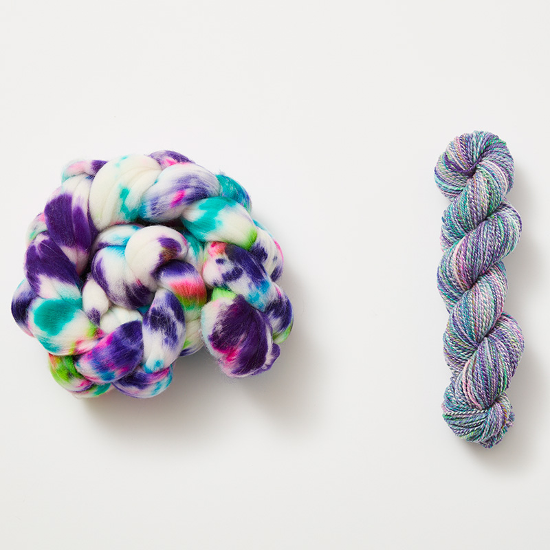 hand-dyed fiber