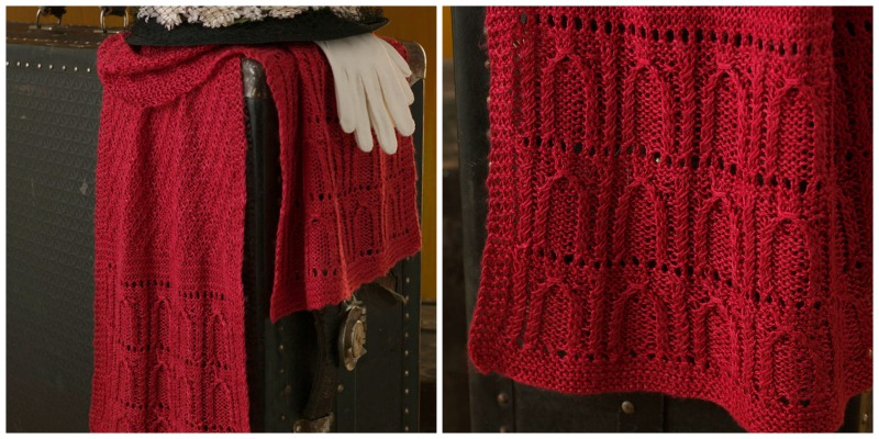 Mimi Seyferth's stunning scarf inspired by the twist of crimson silk