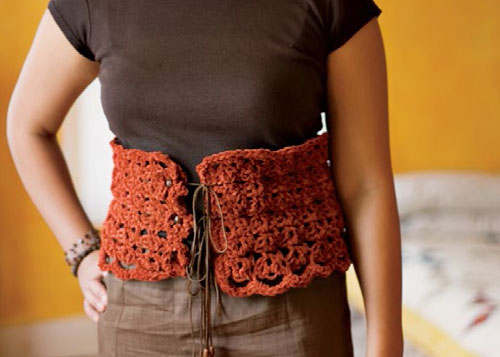 how to crochet a corset belt