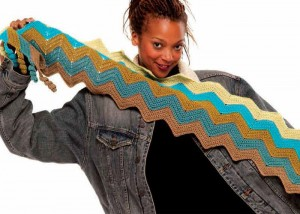 The Zig Zag Scarf is full of bright colors and comes with step-by-step crochet instructions in the 10 Free Crochet Scarf Patterns eBook.