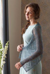 Anniken Allis's An Elegant beaded Lace Stole to Knit. Photos by Joe Coca.