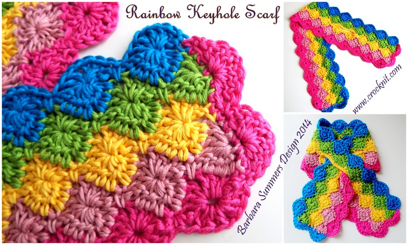 Rainbow Keyhole Scarf Pattern Toddler Child Adult Interweave