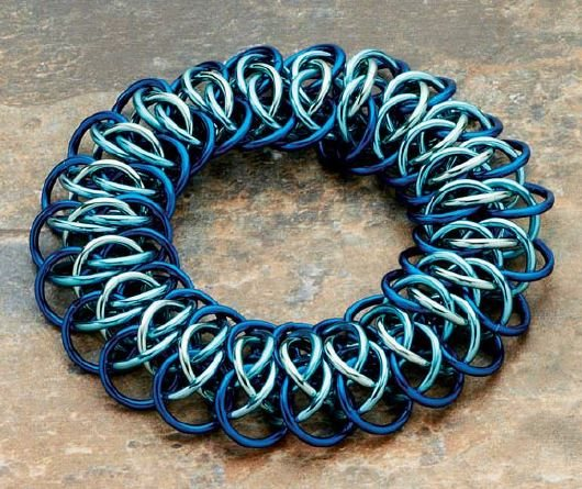 advanced chain maille no clasp bracelet
