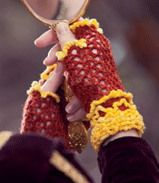 You'll love these lacy mittens that are great for year-round use.