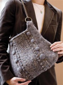 Felt knitting is easier than you think with this free formal felted bag pattern.
