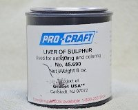 Traditionally, liver of sulfur for jewelry making comes in lump form in an airtight metal canister.