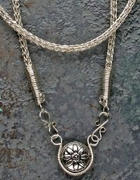 Viking Knit wire necklace by Kathleen Pierce