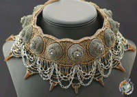 Elaborate Sculptural Beaded Necklace