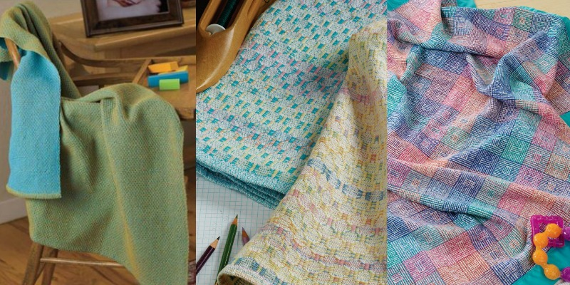 CAPTION: Christina has baby blankets on the brain for 2017. From Left: Sweet Honey in a Waffle Baby Blanket by Suzie Liles; Baby Blanket in M's and O's by Kathleen Farling; Spring Baby Blanket by Terry Newhouse Flynn.