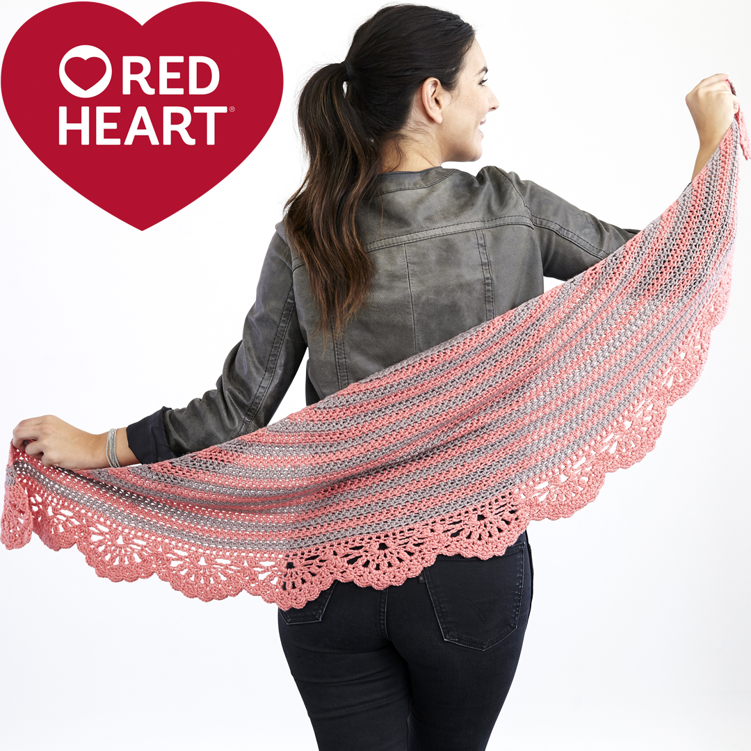 Crochet Chic and Strong Crescent Shawl in Chic Sheep by Marly Bird