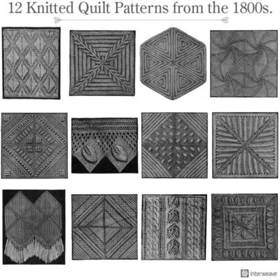12 knitted quilt patterns