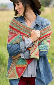 The Ojo de Dios Shawl, front view
