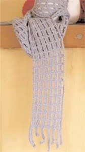 The Off the Grid Scarf is a simple pattern to crochet for those of all skill levels.