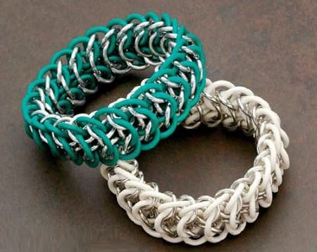 chain maille jewelry bracelet rubber rings
