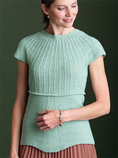 Learn how to knit the Hope Top in this FREE eBook that contains 7 free sweater knitting patterns.