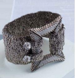 Grey Peyote Stitch Bracelet