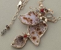"Dale ""Cougar"" Armstrong's Drusy Leaves for Spring necklace"