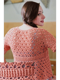 Post Stitch crochet cardigan