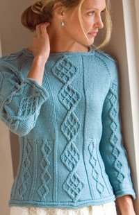 Cable knitting beauty at its best in the Cable Down Pullover