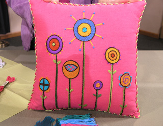 Stitchery Pillow - Needle Arts Studio
