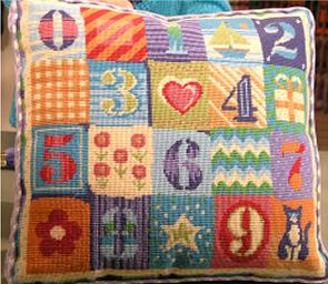 Numbers Pillow - Needle Arts Studio