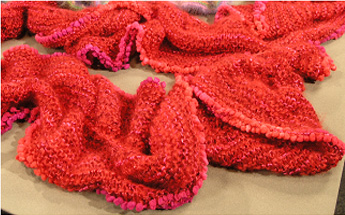 Double Ruffle Knitted Scarves - Needle Arts Studio