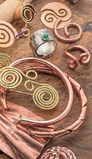 curves, coils, and other interesting metal jewelry designs