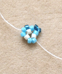 Making Peyote Stitch Triangle Step 2