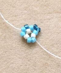Making Peyote Stitch Triangle Step 2
