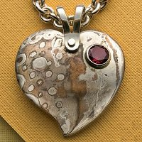 Make a mokume gane heart pendant interweave mokume gane heart pendant by roger halas roger halas is a self taught lapidary metalsmith and jewelry designer in southern california when not making aloadofball Gallery