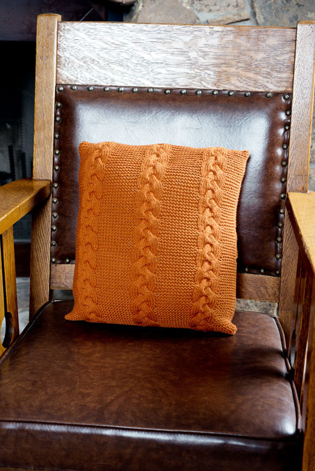 cable pillow knitting pattern