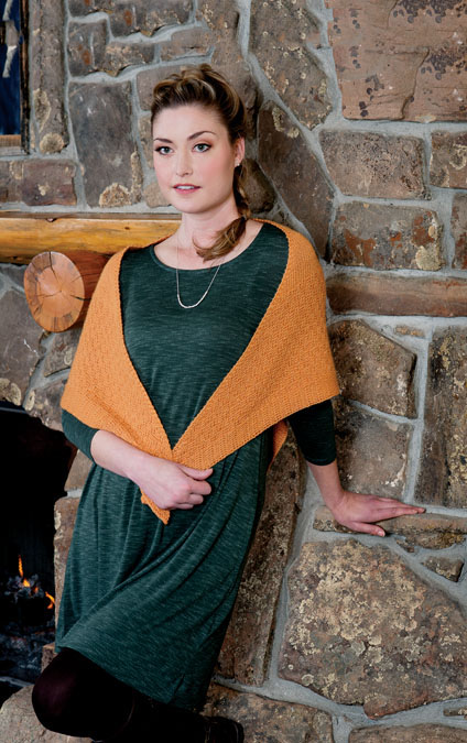 Apricot Shawl Knitting Pattern