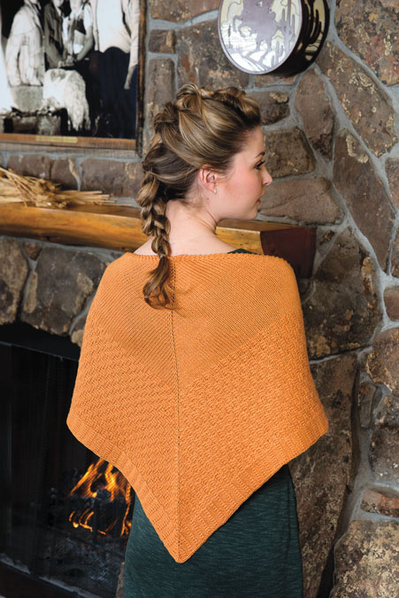 Love of Knitting Fall Apricot Shawl Knitting Pattern
