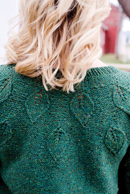 Embossed Leaves Pullover
