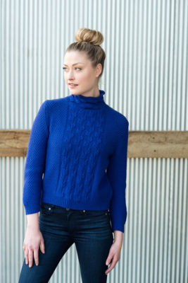 Leafy Path Pullover Knitting Pattern