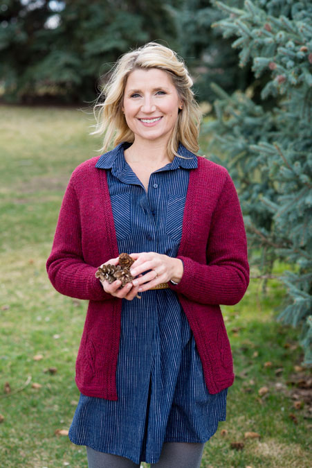Autumn Leaves Cardigan by Kristen TenDyke