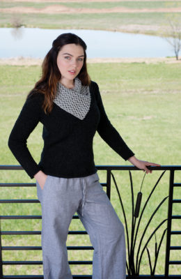 Lodge Pullover knitting pattern designed by Shaina Bilow