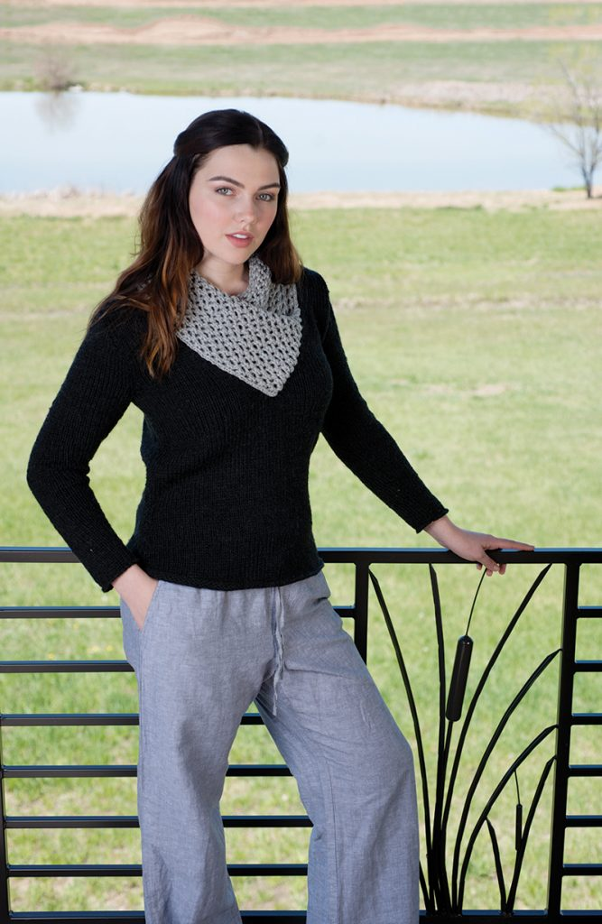 Lodge Pullover designed by Shaina Bilow from Love of Knitting Winter 2016.