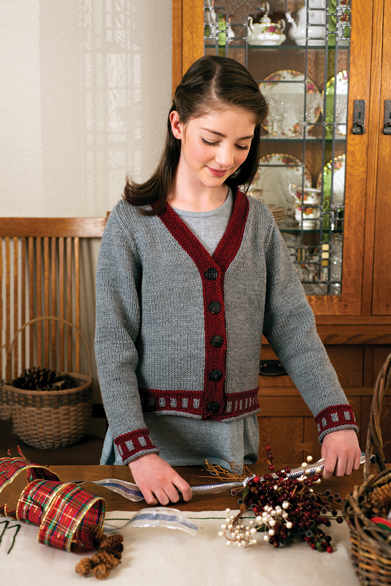Color Boxes Cardigan knitting pattern designed by Kennita Tully