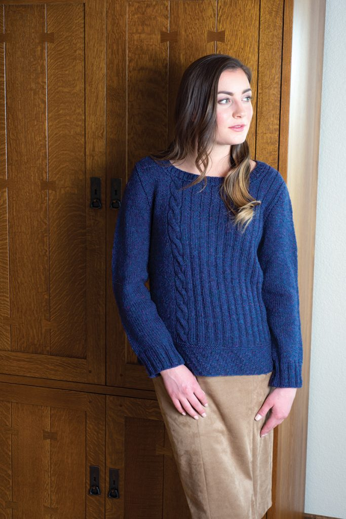 Barcelona Pullover knitting pattern designed by Quenna Lee from Love of Knitting Winter 2016
