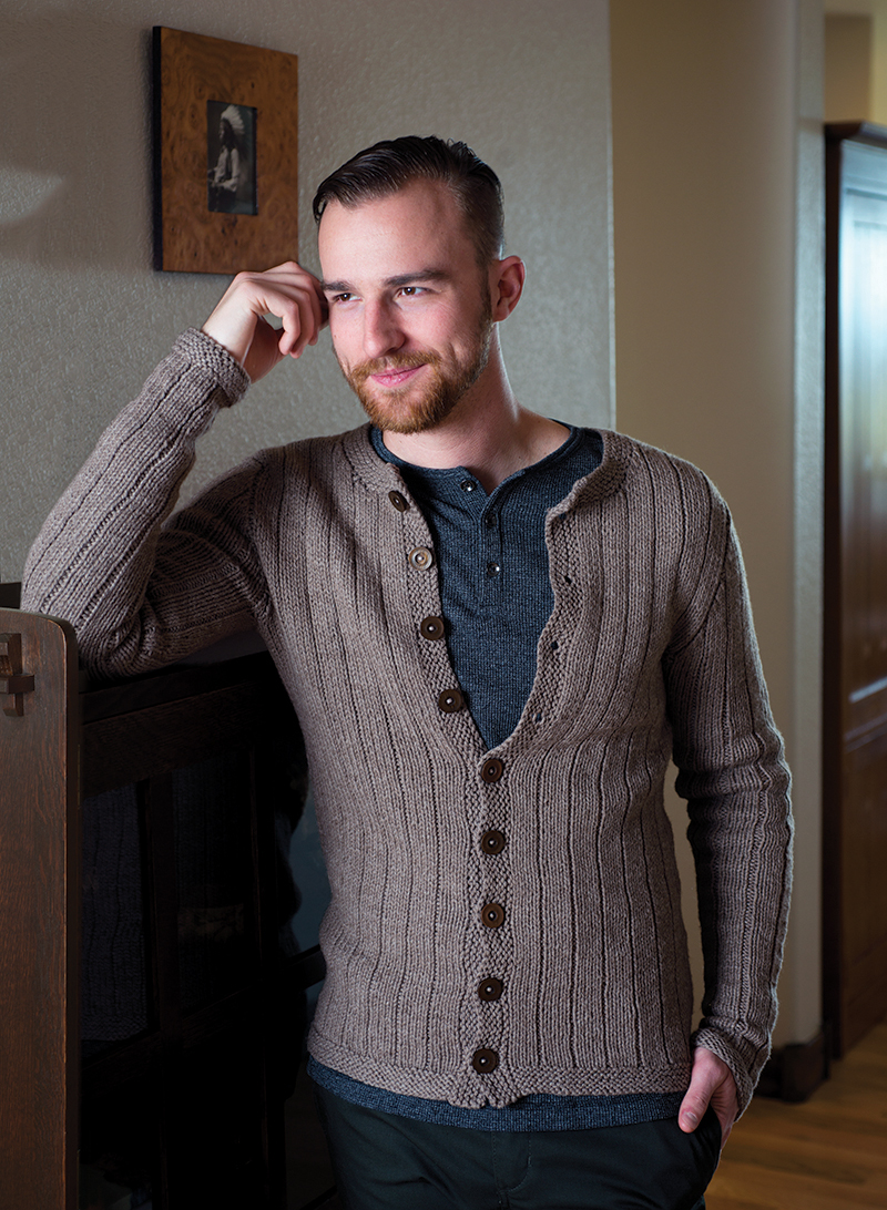 Vertical Stripes Cardigan knitting pattern by Kristen TenDyke