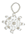 The Snowflake Ornament is a bead craft project found in out free Bead Craft Patterns eBook.