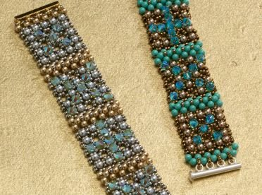 Learn how to make bracelets the right way in this free seed bead bracelet tutorial as well as in the exclusive beading magazine Beadwork!