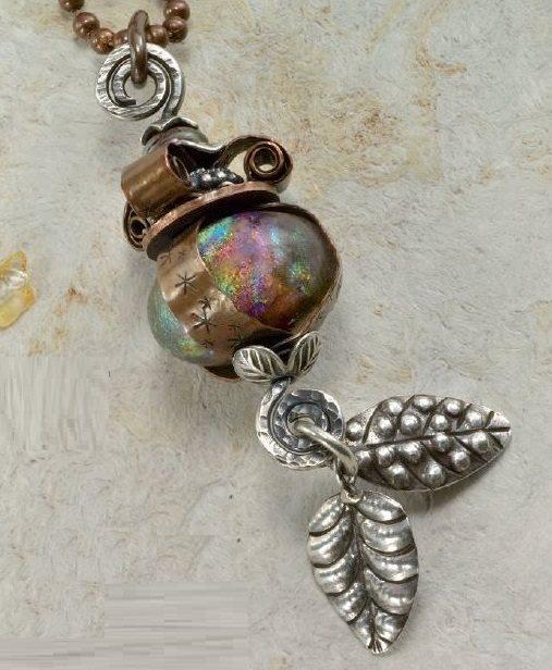 metal stamped jewelry The Crown Jewel by Janice Berkebile