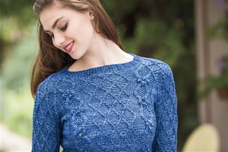 quadrille pullover knitted sweater pattern