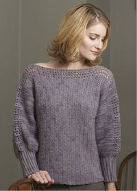 This easy crochet pullover is comfortable and flattering.