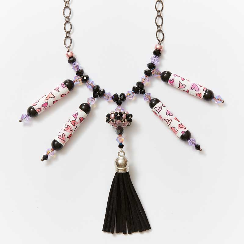 Fabulous Zendoodle beads and necklace by Kristal Wick